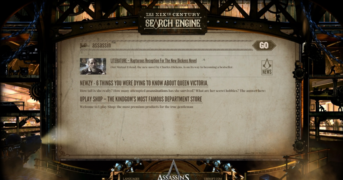 Ubisoft Launch 19th Century Search Engine To Promote Assassin S Creed Syndicate Gamegrin