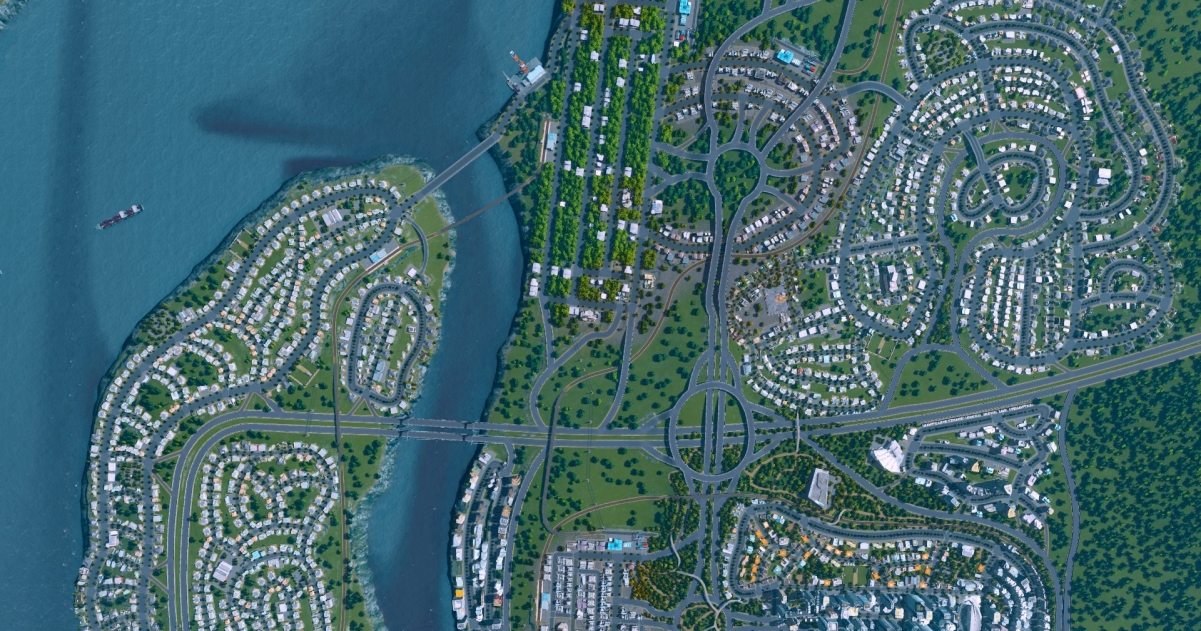 cities skylines how to avoid intersections