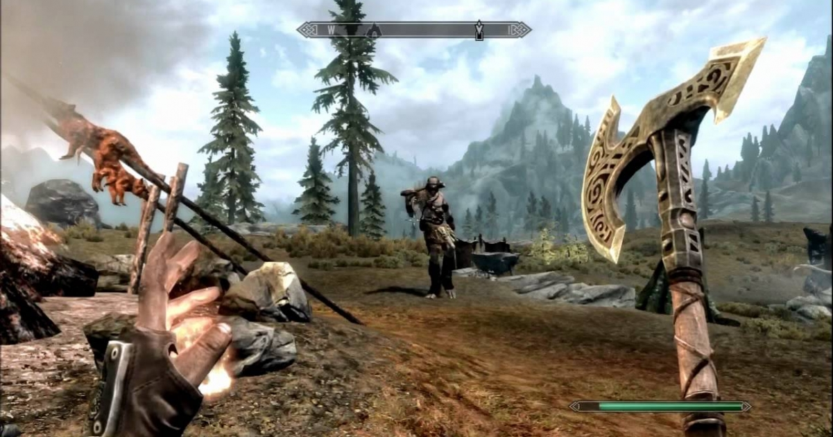 skyrim remastered for ps4 and xbox one gamegrin. Black Bedroom Furniture Sets. Home Design Ideas