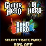 Guitar Hero Franchise Downloadable Songs 50% Off