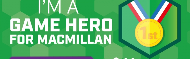 Sponsor Our Macmillan Game Heroes 24 Hour Stream