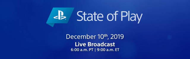 December 2019 State of Play Has Been Announced