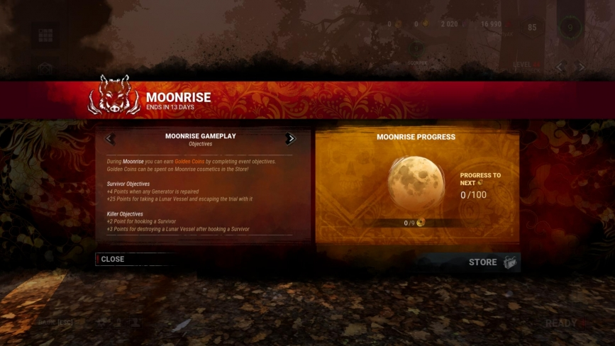 [Dead by Daylight] Moonrise ( 1 / 2 )