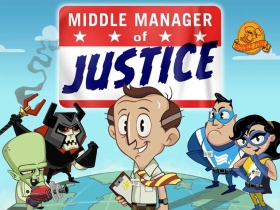 Middle Manager of Justice Box Art