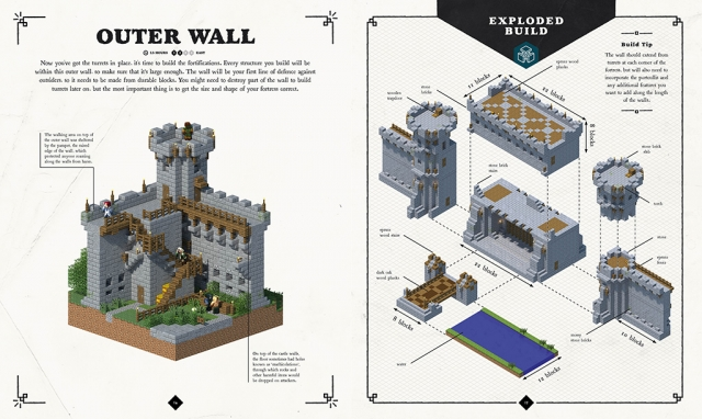 Minecraft Exploded Builds Medieval Fortress Building