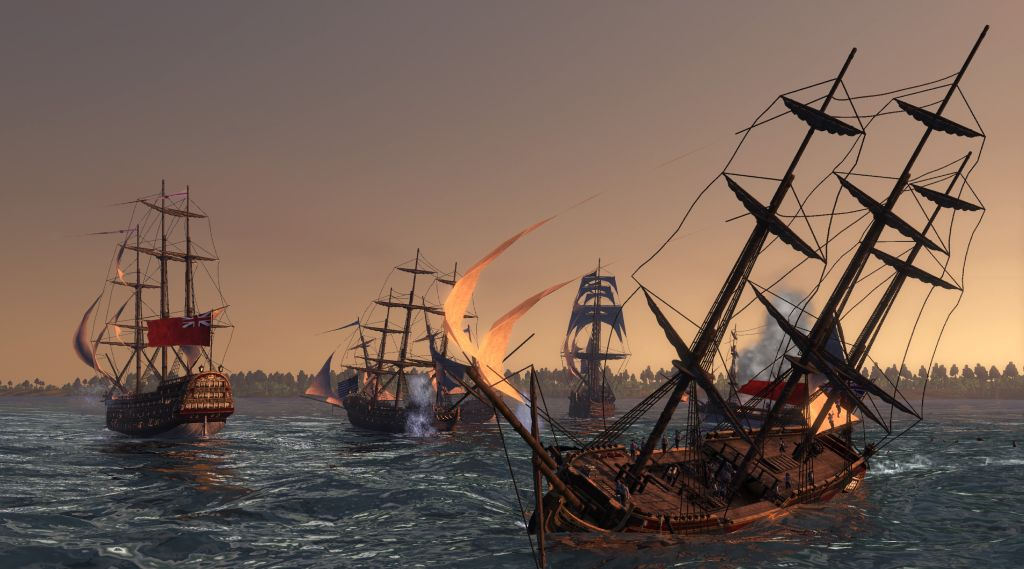 Naval Battles - The flagship of Empire Total War