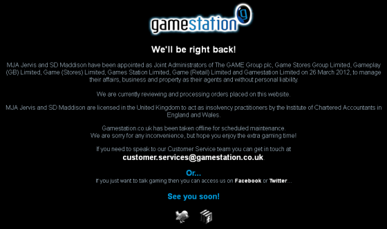 gamestation down